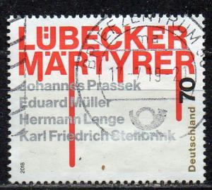 BRD, Mi-Nr. 3417 gest., Lübecker Märtyrer