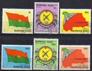 Burkina Faso, Mi-Nr. 982 - 987 gest., kompl.,