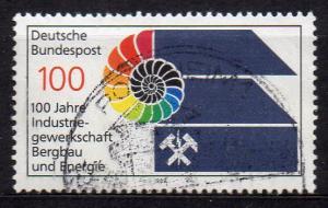 BRD, Mi-Nr. 1436 gest., 100 Jahre Industriegewerkschaft Bergbau und Energie