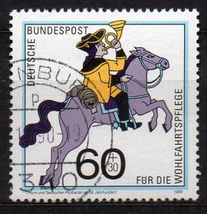 BRD, Mi-Nr. 1437  gest., Wohlfahrt 1989 - Postbeförderung