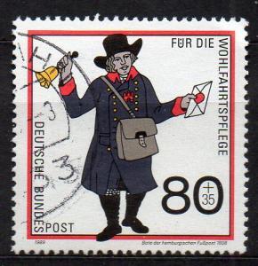 BRD, Mi-Nr. 1438 gest., Wohlfahrt 1989 - Postbeförderung