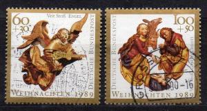 BRD, Mi-Nr. 1442 - 1443 gest., kompl., Weihnachten 1989