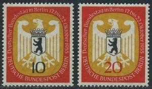BERLIN 1955 Michel-Nummer 129-130 postfrisch SATZ(2) EINZELMARKEN - Deutscher Bundestag in Berlin