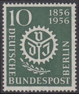 BERLIN 1956 Michel-Nummer 138 postfrisch EINZELMARKE - Verein Deutscher Ingenieure (VDI)