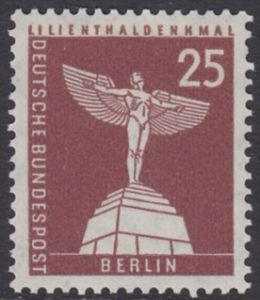 BERLIN 1956 Michel-Nummer 147 postfrisch EINZELMARKE - Berliner Stadtbilder: Lilienthal-Denkmal, Lichterfelde