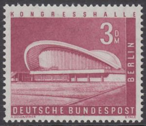BERLIN 1956 Michel-Nummer 154 postfrisch EINZELMARKE - Berliner Stadtbilder: Kongresshalle im Tiergarten
