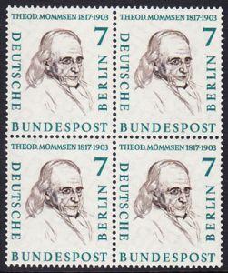 BERLIN 1957 Michel-Nummer 163 postfrisch BLOCK - Männer aus der Geschichte Berlins: Theodor Mommsen