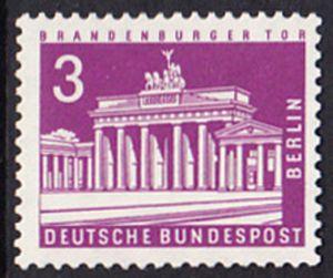 BERLIN 1963 Michel-Nummer 231 postfrisch EINZELMARKE - Berliner Stadtbilder: Brandenburger Tor