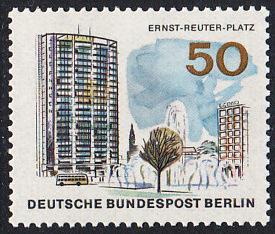 BERLIN 1965 Michel-Nummer 259 postfrisch EINZELMARKE - Das neue Berlin: Ernst-Reuter-Platz