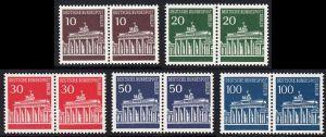 BERLIN 1966 Michel-Nummer 286-290 postfrisch SATZ(5) horiz.PAARE - Brandenburger Tor