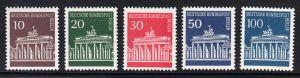 BERLIN 1966 Michel-Nummer 286-290 postfrisch SATZ(5) EINZELMARKEN - Brandenburger Tor