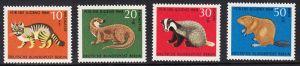 BERLIN 1968 Michel-Nummer 316-319 postfrisch SATZ(4) EINZELMARKEN - Vom Aussterben bedrohte Tiere