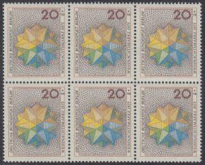 BERLIN 1973 Michel-Nummer 463 postfrisch horiz.BLOCK(6) - Weihnachten