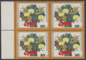 BERLIN 1974 Michel-Nummer 481 postfrisch BLOCK RÄNDER links - Weihnachten