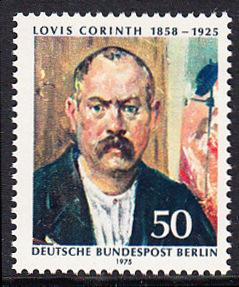 BERLIN 1975 Michel-Nummer 509 postfrisch EINZELMARKE - Lovis Corinth, Maler und Grafiker