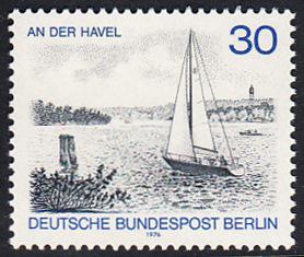 BERLIN 1976 Michel-Nummer 529 postfrisch EINZELMARKE - Berlin-Ansichten: An der Havel