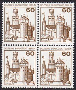 BERLIN 1977 Michel-Nummer 537 postfrisch BLOCK - Burgen und Schlösser: Marksburg