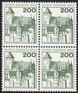 BERLIN 1977 Michel-Nummer 540 postfrisch BLOCK - Burgen und Schlösser: Schloss Bürresheim