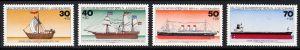 BERLIN 1977 Michel-Nummer 544-547 postfrisch SATZ(4) EINZELMARKEN - Deutsche Schiffe\r\n