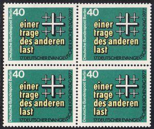 BERLIN 1977 Michel-Nummer 548 postfrisch BLOCK - Deutscher Evangelischer Kirchentag, Berlin