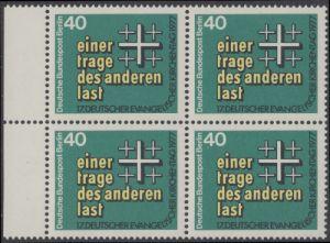 BERLIN 1977 Michel-Nummer 548 postfrisch BLOCK RÄNDER links - Deutscher Evangelischer Kirchentag, Berlin