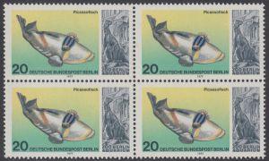 BERLIN 1977 Michel-Nummer 552 postfrisch BLOCK - Wiedereröffnung des Aquariums im Berliner Zoo: Picassofisch