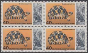 BERLIN 1977 Michel-Nummer 554 postfrisch BLOCK - Wiedereröffnung des Aquariums im Berliner Zoo: Strahlenschildkröte
