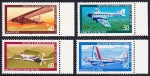 BERLIN 1979 Michel-Nummer 592-595 postfrisch SATZ(4) EINZELMARKEN RÄNDER rechts - Luftfahrt