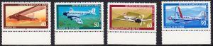 BERLIN 1979 Michel-Nummer 592-595 postfrisch SATZ(4) EINZELMARKEN RÄNDER unten - Luftfahrt