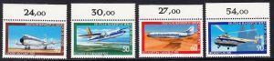 BERLIN 1980 Michel-Nummer 617-620 postfrisch SATZ(4) EINZELMARKEN RÄNDER oben (b) - Luftfahrt