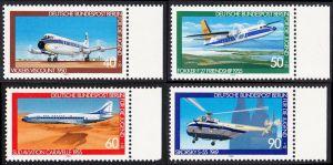 BERLIN 1980 Michel-Nummer 617-620 postfrisch SATZ(4) EINZELMARKEN RÄNDER rechts - Luftfahrt