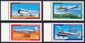 BERLIN 1980 Michel-Nummer 617-620 postfrisch SATZ(4) EINZELMARKEN RÄNDER links - Luftfahrt