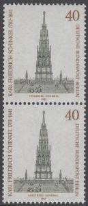 BERLIN 1981 Michel-Nummer 640 postfrisch vert.PAAR - Karl Friedrich Schinkel, Baumeister und Maler