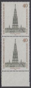 BERLIN 1981 Michel-Nummer 640 postfrisch vert.PAAR RAND unten - Karl Friedrich Schinkel, Baumeister und Maler