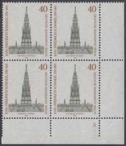 BERLIN 1981 Michel-Nummer 640 postfrisch BLOCK ECKRAND unten rechts (FN) - Karl Friedrich Schinkel, Baumeister und Maler
