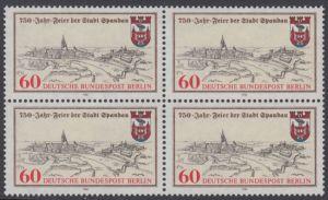 BERLIN 1982 Michel-Nummer 659 postfrisch BLOCK - 750 Jahre Stadt Spandau