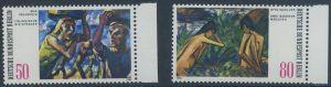 BERLIN 1982 Michel-Nummer 678-679 postfrisch SATZ(2) EINZELMARKEN RÄNDER rechts - Moderne Gemälde aus Berliner Sammlungen