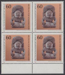 BERLIN 1984 Michel-Nummer 710 postfrisch BLOCK RÄNDER unten - Kunstschätze in Berliner Museen: Göttin mit dem Perlenturban (Museum für Völkerkunde)