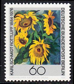 BERLIN 1984 Michel-Nummer 728 postfrisch EINZELMARKE - Karl Schmidt-Rottluff, Maler und Grafiker