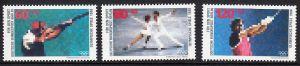 BERLIN 1988 Michel-Nummer 801-803 postfrisch SATZ(3) EINZELMARKEN - Sporthilfe: Olympische Winterspiele, Calgary / Olympische Sommerspiele, Seoul