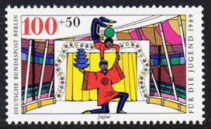 BERLIN 1989 Michel-Nummer 841 postfrisch EINZELMARKE - Zirkus: Jongleur