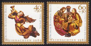 BERLIN 1989 Michel-Nummer 858-859 postfrisch SATZ(2) EINZELMARKEN - Weihnachten