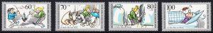 BERLIN 1990 Michel-Nummer 868-871 postfrisch SATZ(4) EINZELMARKEN - 125 Jahre Max und Moritz
