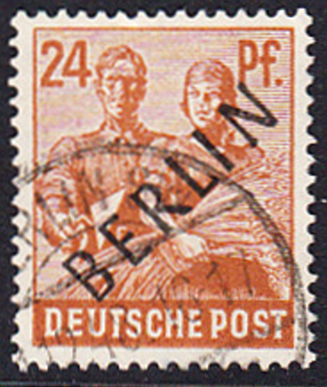 BERLIN 1948 Michel-Nummer 009 gestempelt EINZELMARKE (e)