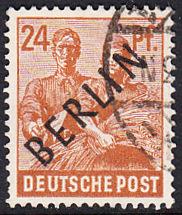 BERLIN 1948 Michel-Nummer 009 gestempelt EINZELMARKE (g)