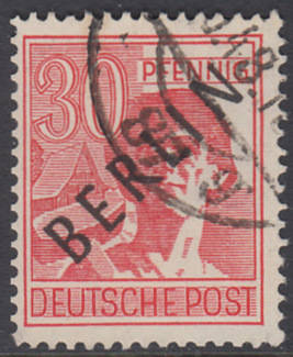 BERLIN 1948 Michel-Nummer 011 gestempelt EINZELMARKE (c)