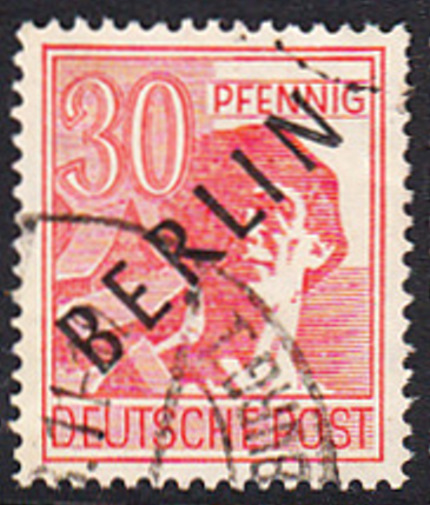 BERLIN 1948 Michel-Nummer 011 gestempelt EINZELMARKE (a)