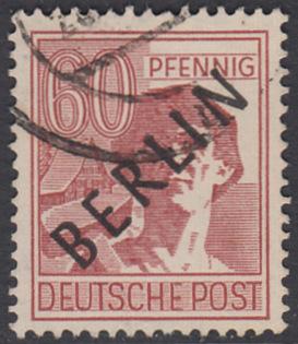 BERLIN 1948 Michel-Nummer 014 gestempelt EINZELMARKE (a)