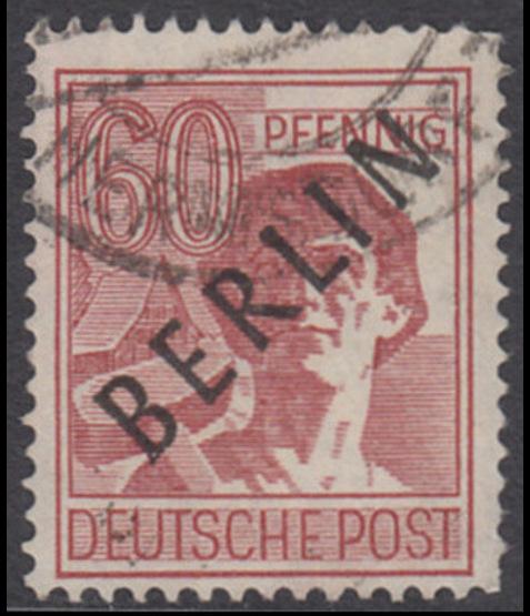 BERLIN 1948 Michel-Nummer 014 gestempelt EINZELMARKE (f)