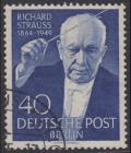 BERLIN 1954 Michel-Nummer 124 gestempelt EINZELMARKE (c)
